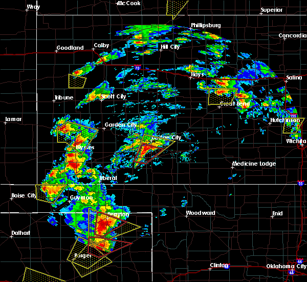 Radar Image for Severe Thunderstorms near Ulysses, KS at 5/23/2019 6:25 PM CDT