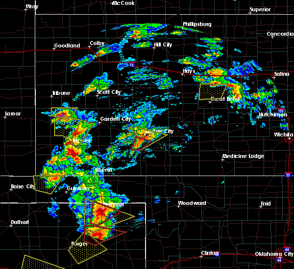 Radar Image for Severe Thunderstorms near Ulysses, KS at 5/23/2019 6:35 PM CDT