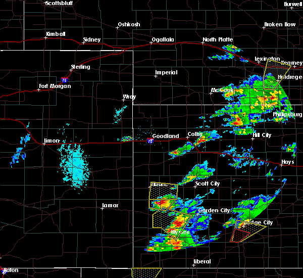 Radar Image for Severe Thunderstorms near Marienthal, KS at 5/23/2019 6:37 PM CDT