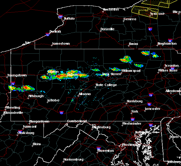 Radar Image for Severe Thunderstorms near Falls Creek, PA at 5/23/2019 7:41 PM EDT
