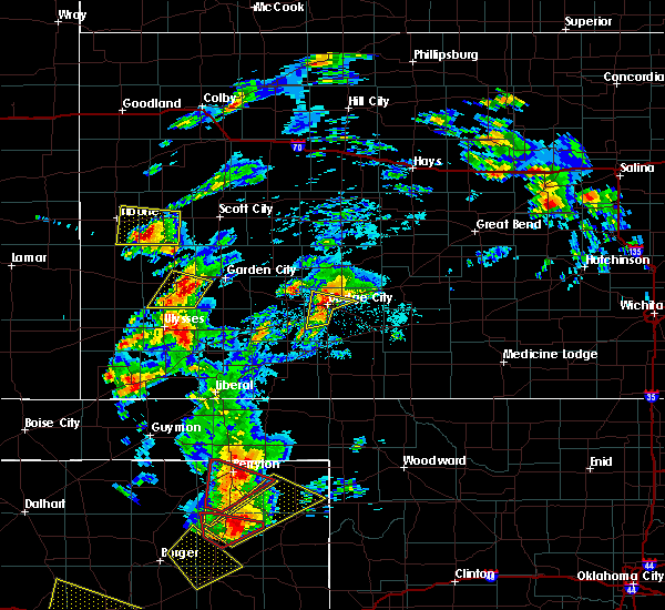 Radar Image for Severe Thunderstorms near Lakin, KS at 5/23/2019 6:45 PM CDT