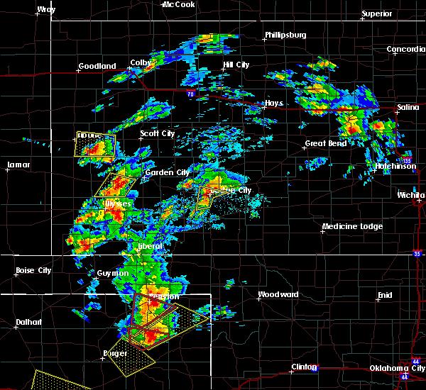 Radar Image for Severe Thunderstorms near Wright, KS at 5/23/2019 6:45 PM CDT