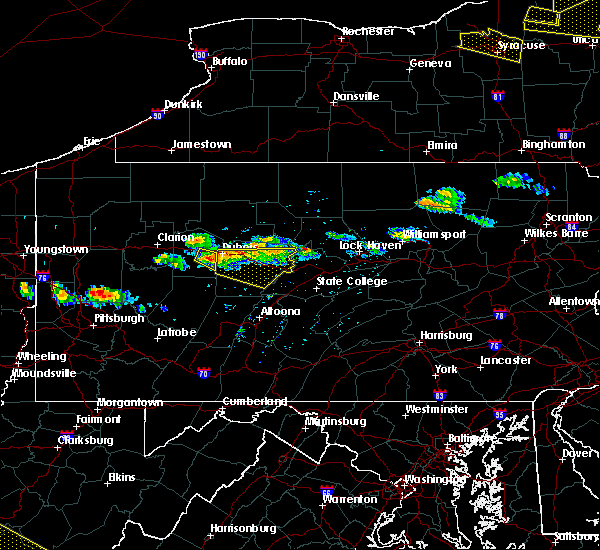 Radar Image for Severe Thunderstorms near Hawk Run, PA at 5/23/2019 7:53 PM EDT