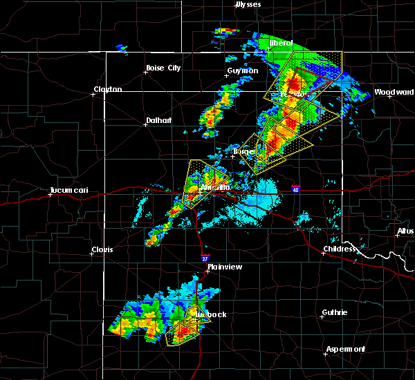 Radar Image for Severe Thunderstorms near Amarillo, TX at 5/23/2019 7:08 PM CDT