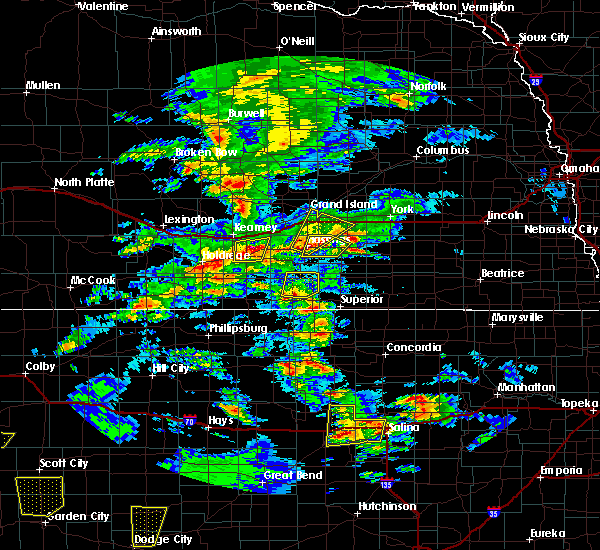 Radar Image for Severe Thunderstorms near Grand Island, NE at 5/23/2019 7:15 PM CDT