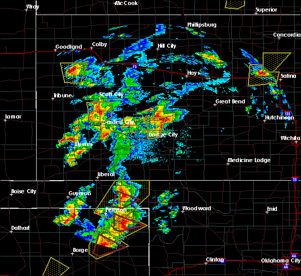 Radar Image for Severe Thunderstorms near Jetmore, KS at 5/23/2019 7:28 PM CDT