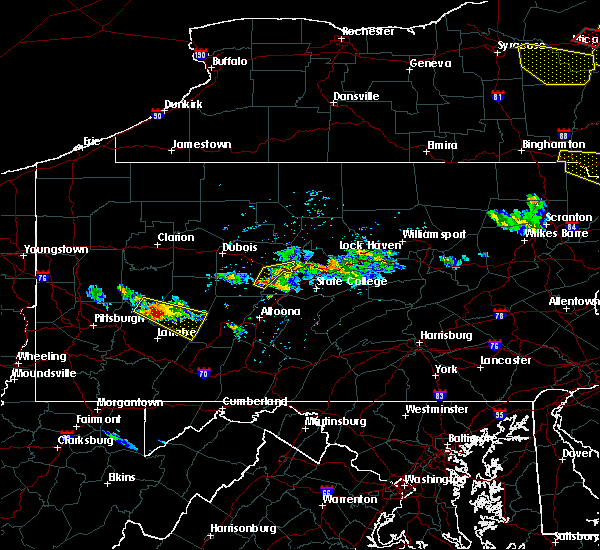 Radar Image for Severe Thunderstorms near Ramey, PA at 5/23/2019 8:32 PM EDT
