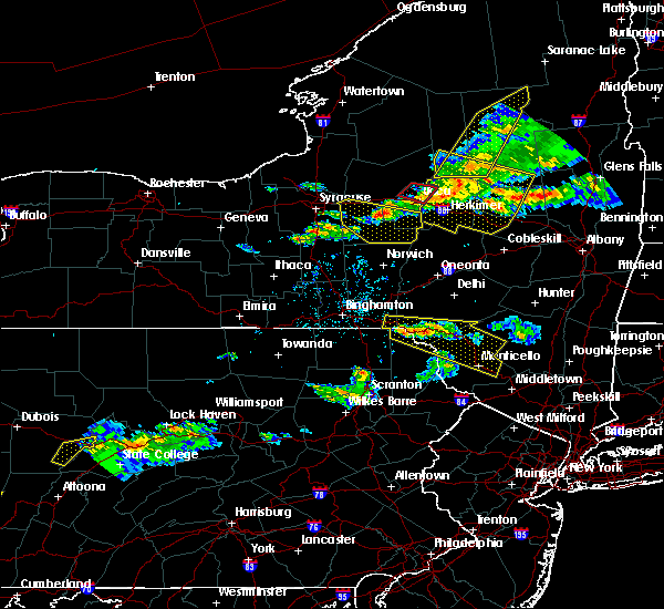 Radar Image for Severe Thunderstorms near Chadwicks, NY at 5/23/2019 8:35 PM EDT
