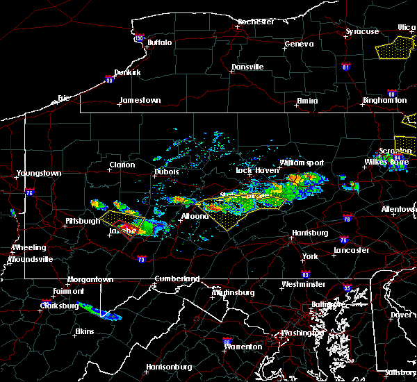 Radar Image for Severe Thunderstorms near Longfellow, PA at 5/23/2019 8:55 PM EDT