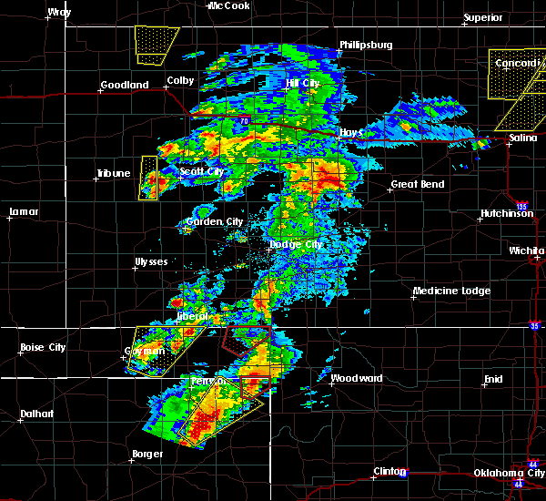 Radar Image for Severe Thunderstorms near Follett, TX at 5/23/2019 8:14 PM CDT