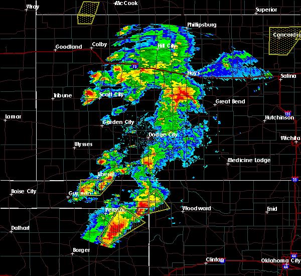 Radar Image for Severe Thunderstorms near Hooker, OK at 5/23/2019 8:25 PM CDT