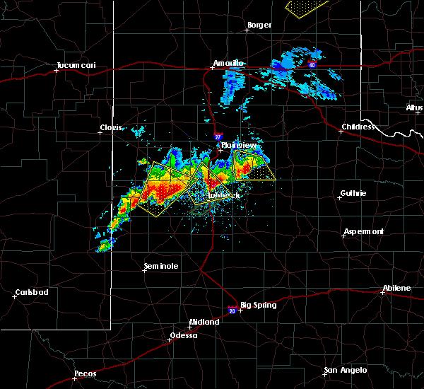 Radar Image for Severe Thunderstorms near Floydada, TX at 5/23/2019 9:01 PM CDT