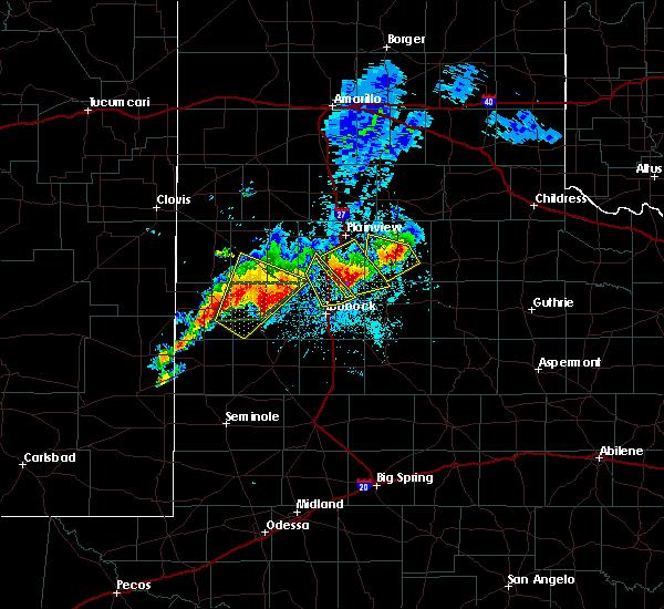 Radar Image for Severe Thunderstorms near Floydada, TX at 5/23/2019 9:16 PM CDT