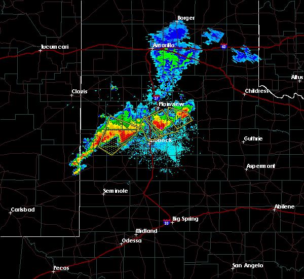 Radar Image for Severe Thunderstorms near Floydada, TX at 5/23/2019 9:26 PM CDT