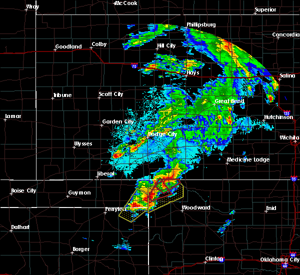 Radar Image for Severe Thunderstorms near Follett, TX at 5/23/2019 9:48 PM CDT