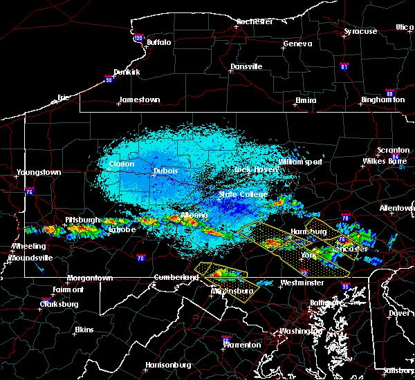 Radar Image for Severe Thunderstorms near Schlusser, PA at 5/23/2019 10:49 PM EDT