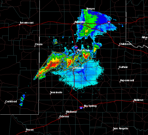 Radar Image for Severe Thunderstorms near Floydada, TX at 5/23/2019 9:56 PM CDT