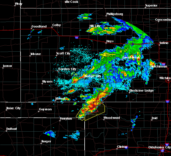 Radar Image for Severe Thunderstorms near Coldwater, KS at 5/23/2019 10:05 PM CDT