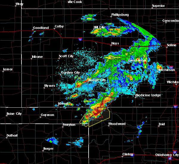 Radar Image for Severe Thunderstorms near Follett, TX at 5/23/2019 10:05 PM CDT