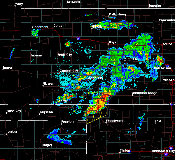 Radar Image for Severe Thunderstorms near Coldwater, KS at 5/23/2019 10:18 PM CDT
