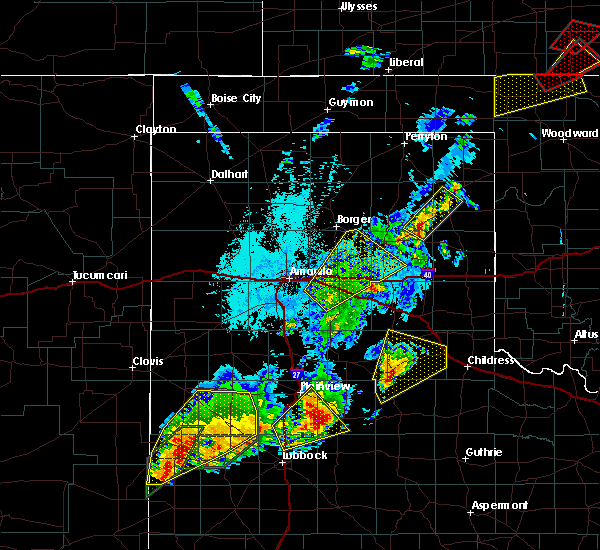 Radar Image for Severe Thunderstorms near Canadian, TX at 5/23/2019 10:54 PM CDT