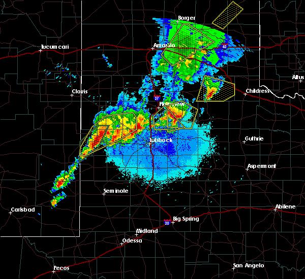 Radar Image for Severe Thunderstorms near Floydada, TX at 5/23/2019 11:06 PM CDT