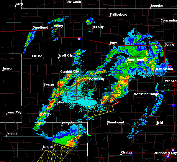 Radar Image for Severe Thunderstorms near Coldwater, KS at 5/23/2019 11:15 PM CDT