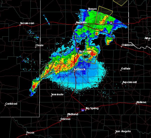 Radar Image for Severe Thunderstorms near Floydada, TX at 5/23/2019 11:34 PM CDT