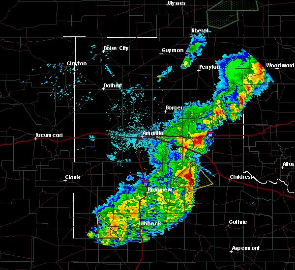 Radar Image for Severe Thunderstorms near Turkey, TX at 5/24/2019 1:11 AM CDT