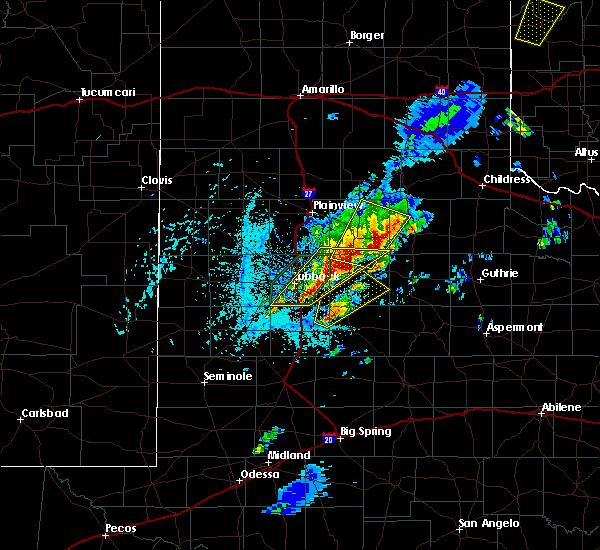 Radar Image for Severe Thunderstorms near Floydada, TX at 5/24/2019 3:24 PM CDT