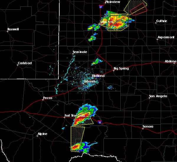 Radar Image for Severe Thunderstorms near Sanderson, TX at 5/24/2019 4:00 PM CDT