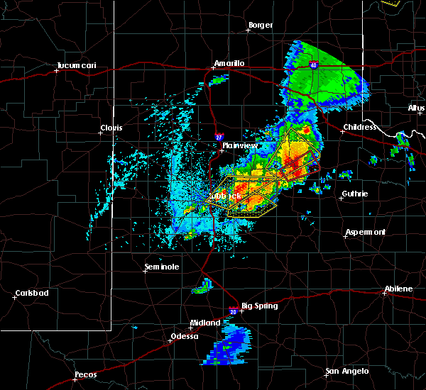 Radar Image for Severe Thunderstorms near Crosbyton, TX at 5/24/2019 4:05 PM CDT