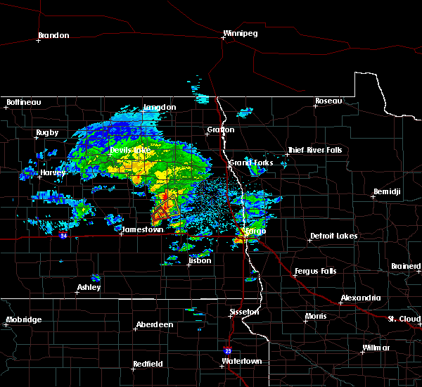 Radar Image for Severe Thunderstorms near Luverne, ND at 5/24/2019 5:57 PM CDT