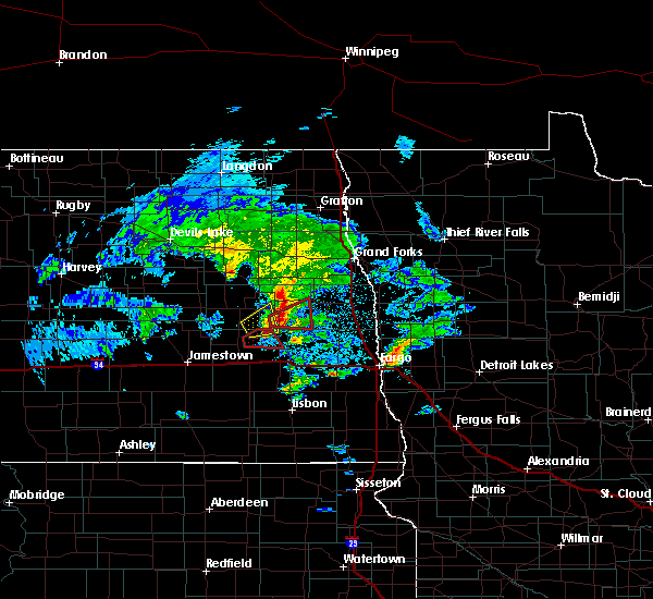 Radar Image for Severe Thunderstorms near Luverne, ND at 5/24/2019 6:25 PM CDT