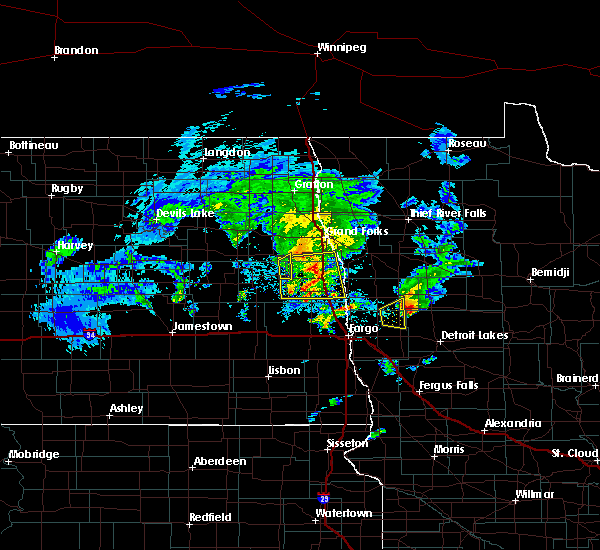 Radar Image for Severe Thunderstorms near White Earth, MN at 5/24/2019 7:15 PM CDT