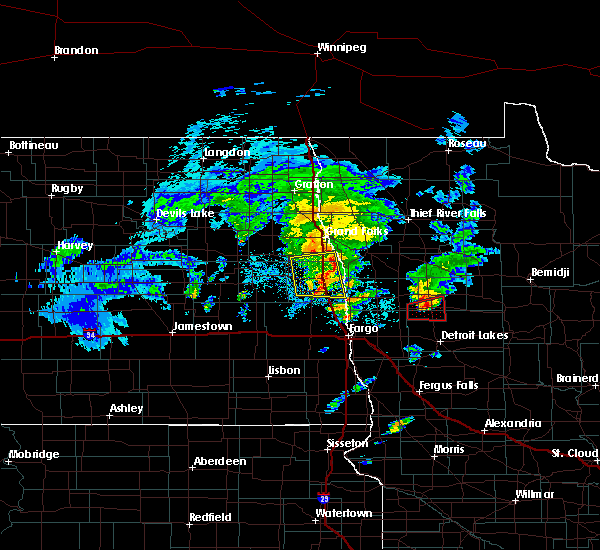 Radar Image for Severe Thunderstorms near White Earth, MN at 5/24/2019 7:28 PM CDT