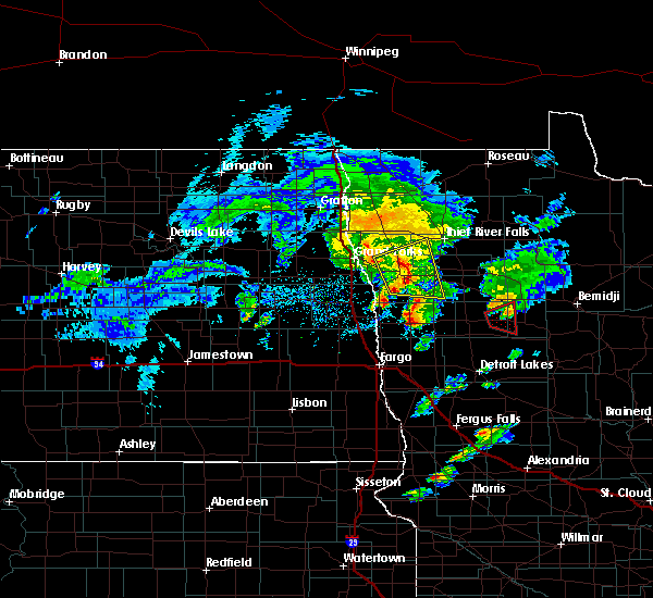 Radar Image for Severe Thunderstorms near Twin Lakes, MN at 5/24/2019 8:01 PM CDT