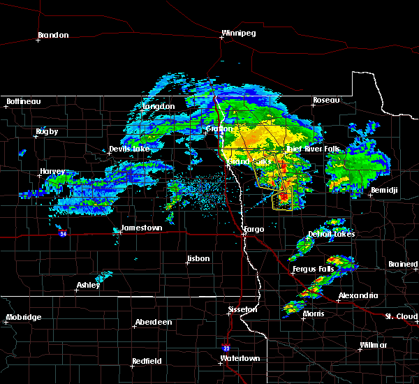 Radar Image for Severe Thunderstorms near Twin Valley, MN at 5/24/2019 8:21 PM CDT