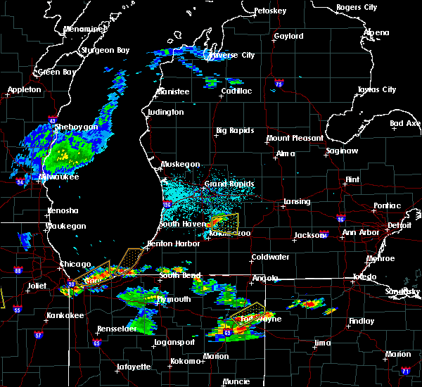 Radar Image for Severe Thunderstorms near Dowling, MI at 6/13/2015 6:46 PM EDT