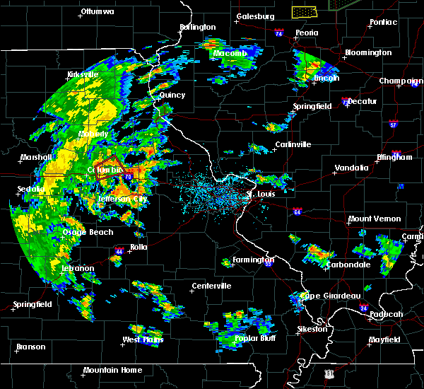Radar Image for Severe Thunderstorms near Mexico, MO at 6/13/2015 5:50 PM CDT