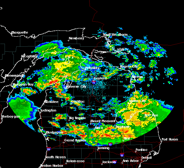 Radar Image for Severe Thunderstorms near South Boardman, MI at 5/25/2019 3:32 AM EDT