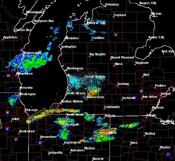 Radar Image for Severe Thunderstorms near Dowling, MI at 6/13/2015 6:56 PM EDT
