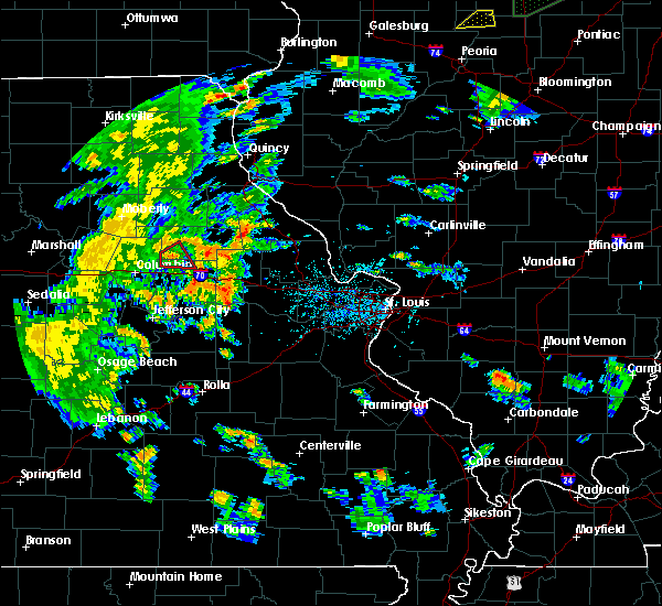 Radar Image for Severe Thunderstorms near Mexico, MO at 6/13/2015 6:00 PM CDT