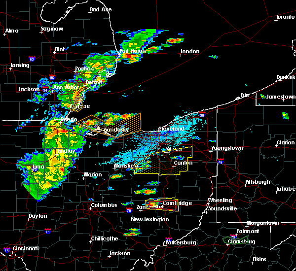 Radar Image for Severe Thunderstorms near Meyers Lake, OH at 5/25/2019 4:18 PM EDT