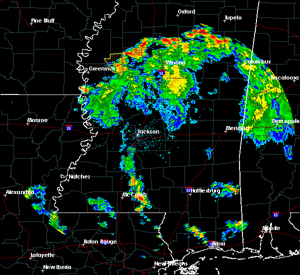 Radar Image for Severe Thunderstorms near Sunflower, MS at 6/13/2015 6:09 PM CDT