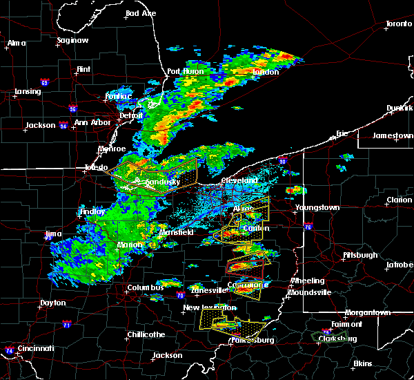 Radar Image for Severe Thunderstorms near Meyers Lake, OH at 5/25/2019 4:58 PM EDT