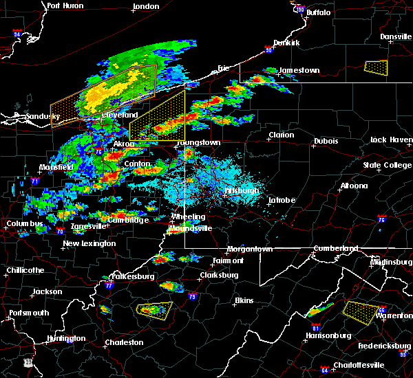 Radar Image for Severe Thunderstorms near Meadville, PA at 5/25/2019 6:09 PM EDT