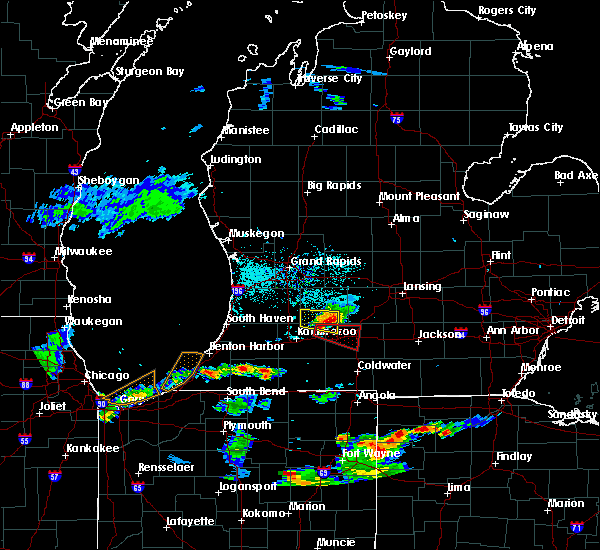 Radar Image for Severe Thunderstorms near Dowling, MI at 6/13/2015 7:28 PM EDT