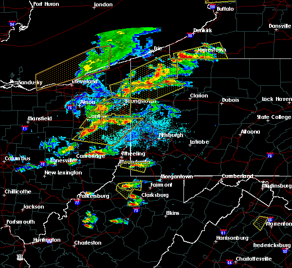 Radar Image for Severe Thunderstorms near Utica, PA at 5/25/2019 6:34 PM EDT