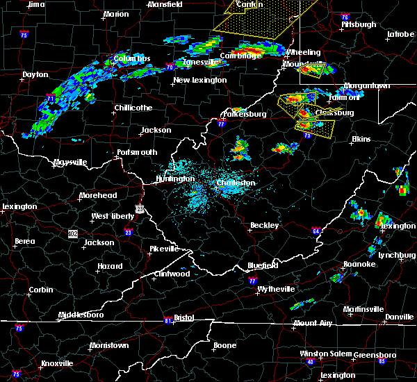 Radar Image for Severe Thunderstorms near Century, WV at 5/25/2019 6:35 PM EDT